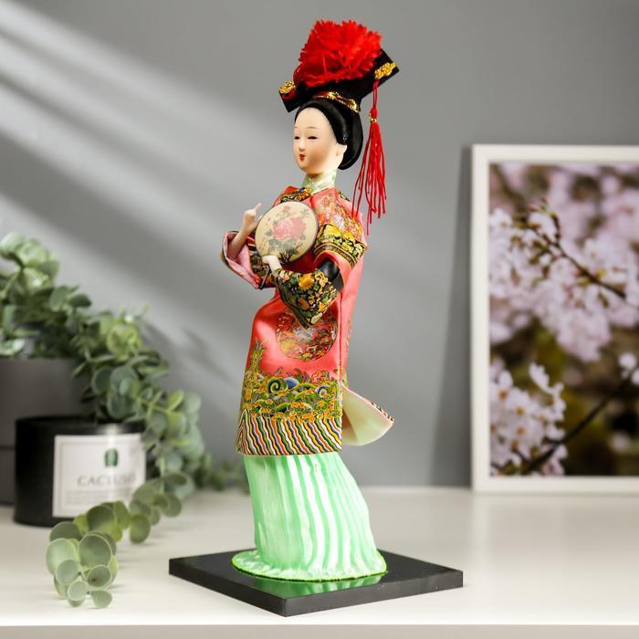 Кукла коллекционная 'Китаянка в традиционном наряде с опахалом' 33,5х12,5х12,5 см - фото 3