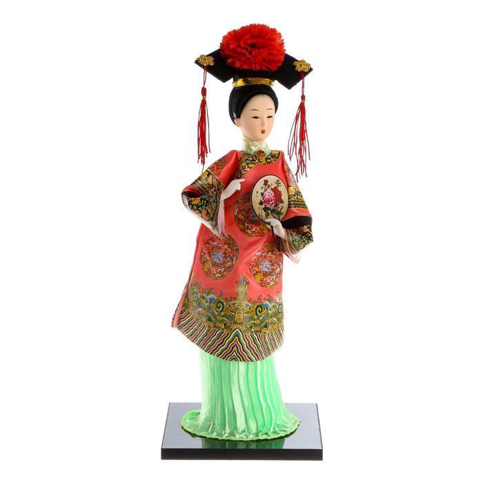 Кукла коллекционная 'Китаянка в традиционном наряде с опахалом' 33,5х12,5х12,5 см - фото 5