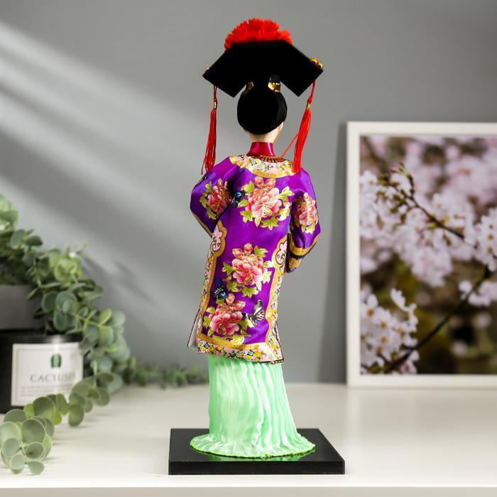 Кукла коллекционная 'Китаянка в национальном платье с опахалом' 32х12,5х12,5 см - фото 4