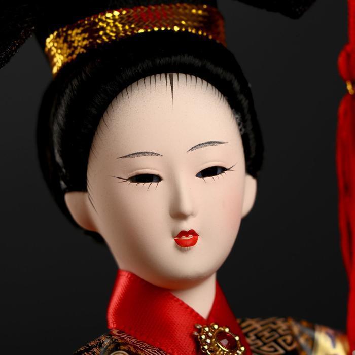 Кукла коллекционная 'Китаянка в национальном платье с опахалом' 32х12,5х12,5 см - фото 5