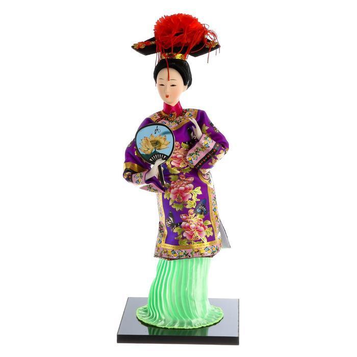 Кукла коллекционная 'Китаянка в национальном платье с опахалом' 32х12,5х12,5 см - фото 7