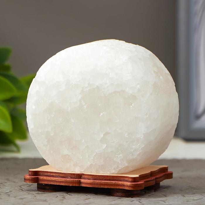 Соляной светильник 'Круг' LED (диод цветной) USB белая соль 12,5*5*10 см - фото 2