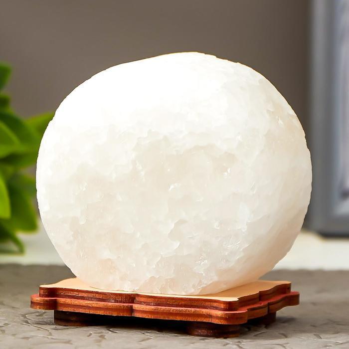 Соляной светильник 'Круг' LED (диод цветной) USB белая соль 12,5*5*10 см - фото 4
