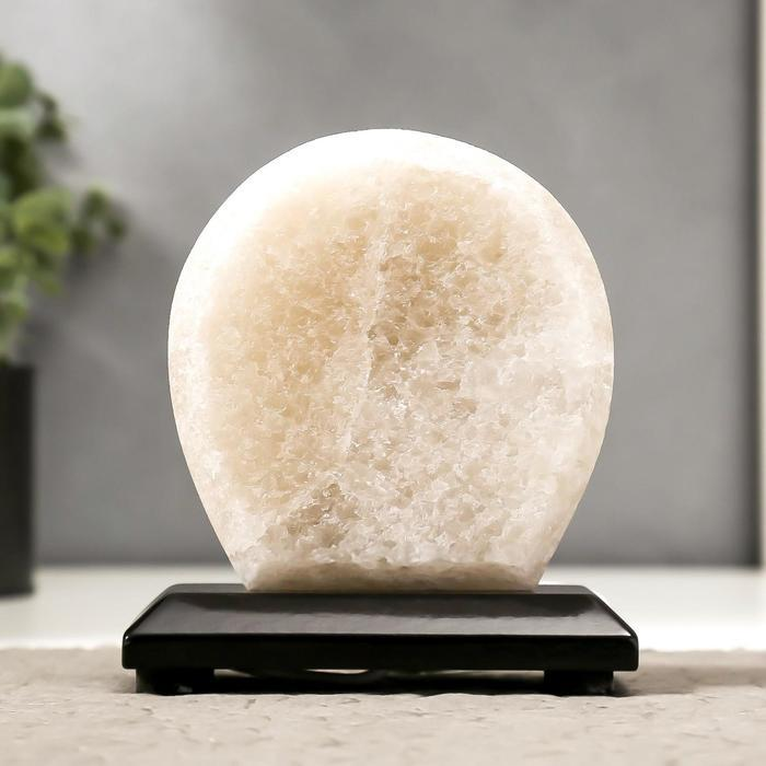 Соляной светильник 'Круг' LED (диод цветной) USB белая соль 12,5*5*10 см - фото 8