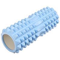 Роллер массажный для йоги 33 х 10 см, цвет синий