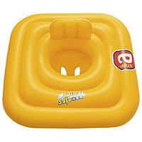 Плотик для плавания Swim Safe, ступень 'A', c сиденьем и спинкой, 76 х 76 см, 32050 Bestway