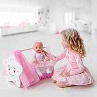 Игрушка детская кроватка для кукол звездочка с постельным бельем и балдахином, коллекция 'Diamond star'