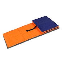 Коврик гимнастический детский 150 x 50 см, толщина 7 мм, цвет оранжевый/синий