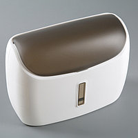 Диспенсер бумажных полотенец в листах 31x12,5x23,5 см, пластик, цвет белый/чёрный