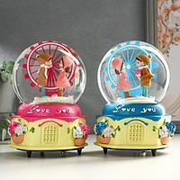 Сувенир полистоун водяной шар музыка 'Дети - колесо обозрения' крутится МИКС 15,5х11х9,5см