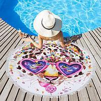 Полотенце пляжное Этель 'Модница', d 150см