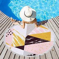 Полотенце пляжное Этель 'Геометрия', d 150см