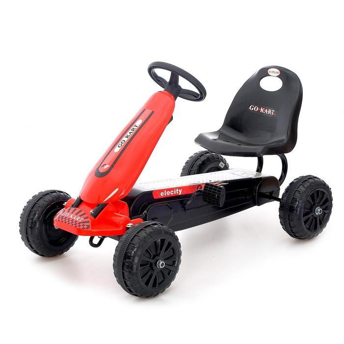 Веломобиль HOT CAR, цвет красный - фото 1