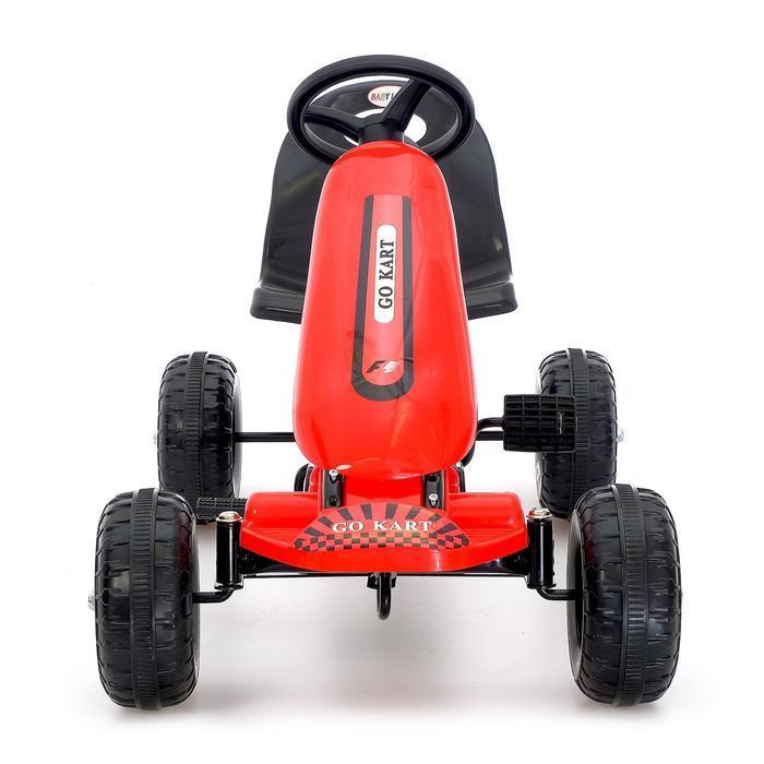 Веломобиль HOT CAR, цвет красный - фото 4
