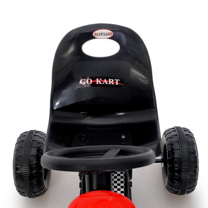 Веломобиль HOT CAR, цвет красный - фото 7