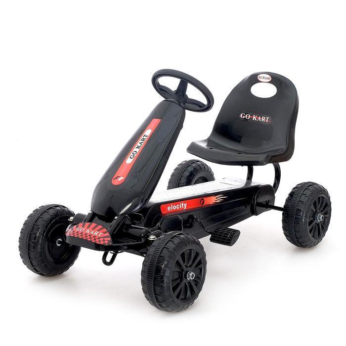 Веломобиль HOT CAR, цвет чёрный - фото 1