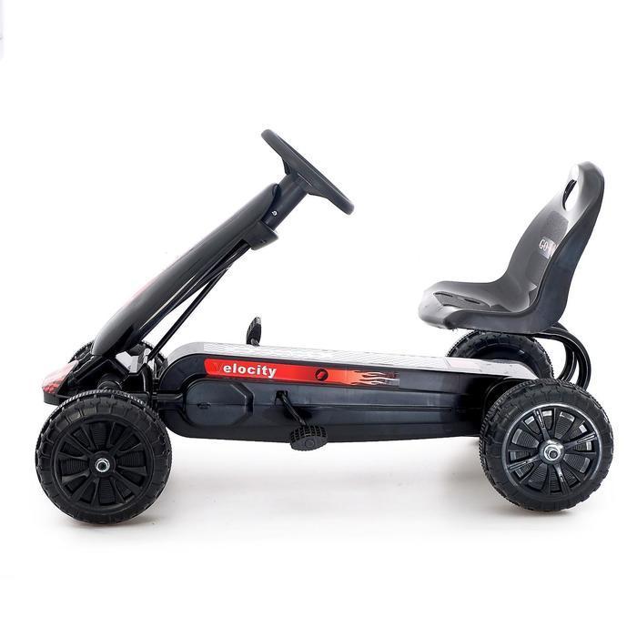 Веломобиль HOT CAR, цвет чёрный - фото 2