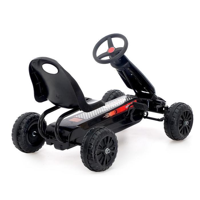 Веломобиль HOT CAR, цвет чёрный - фото 3