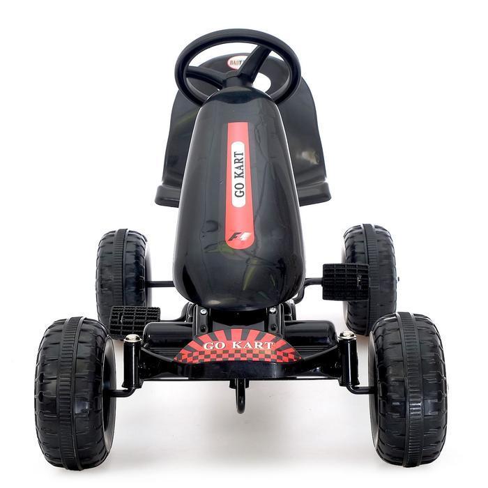 Веломобиль HOT CAR, цвет чёрный - фото 4