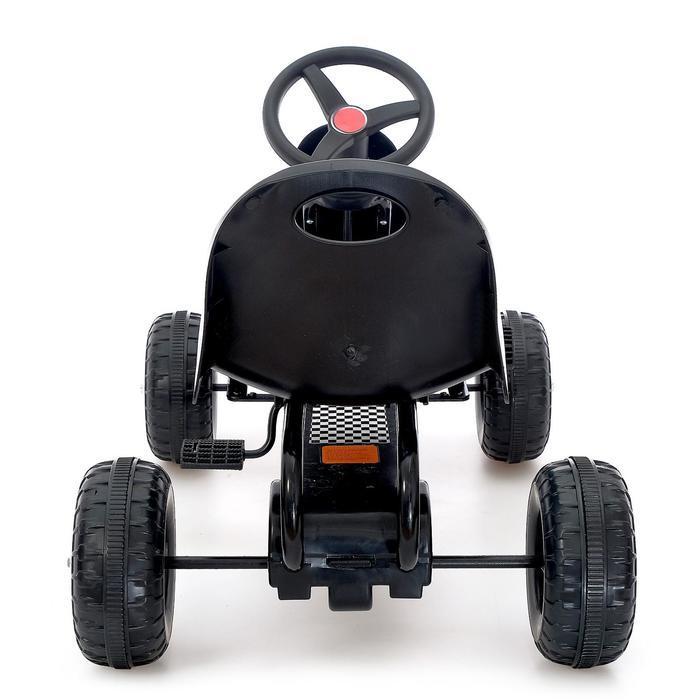 Веломобиль HOT CAR, цвет чёрный - фото 5