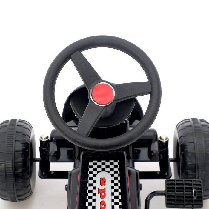 Веломобиль HOT CAR, цвет чёрный - фото 6