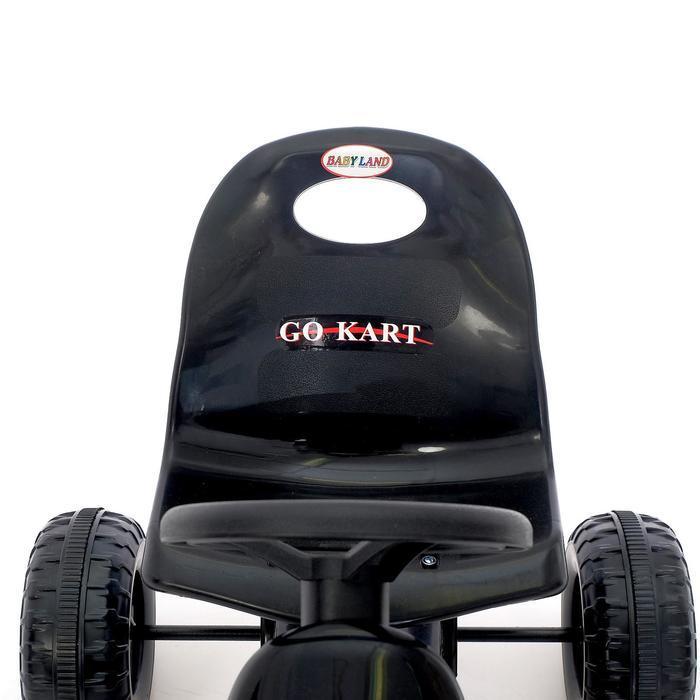 Веломобиль HOT CAR, цвет чёрный - фото 7