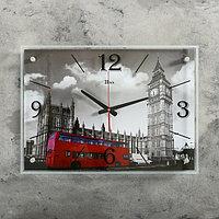 Часы настенные, серия Город, 'Лондон', стекло, 40х56 см, форма стрелок МИКС
