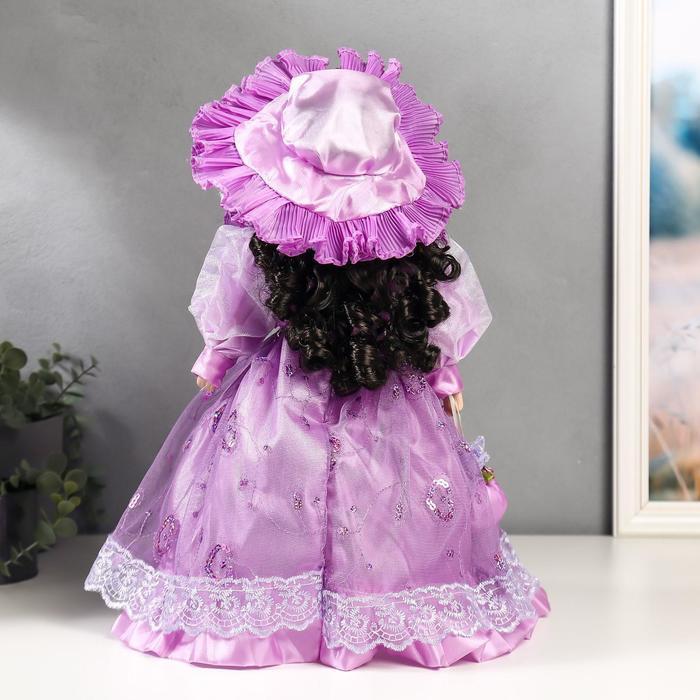 Кукла коллекционная керамика 'Леди Беатрис в сиреневом платье' 40 см - фото 4