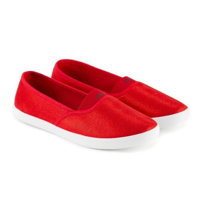 Слипоны женские, цвет красный, размер 40 - фото 1