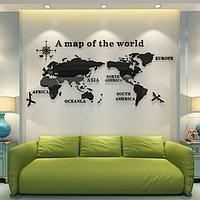 Декор настенный 'Карта мира', 105 х 230 см