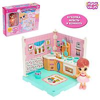 Пластиковый домик для кукол 'В гостях у Молли' кухня, с куклой и аксессуарами