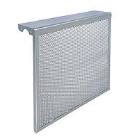 Экран на чугунный радиатор 'Лидер', 590х610х150 мм, 6 секций, металлический, цвет металлик