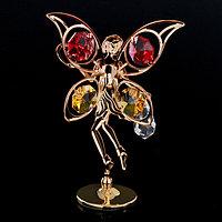 Сувенир с кристаллами Swarovski 'Цветочная фея' золото 10х6,5 см
