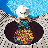Полотенце пляжное Этель 'Райский ананас', d 150см