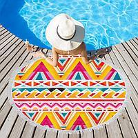 Полотенце пляжное Этель 'Краски лета', d 150см