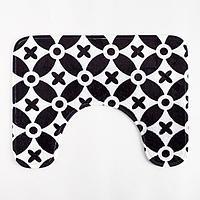 Набор ковриков для ванной Этель 'Узор' 2 шт, 80х50 см, 50х40 см, велюр