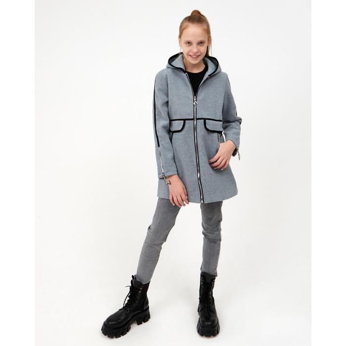 Пальто для девочки, цвет серый, рост 140 см - фото 2