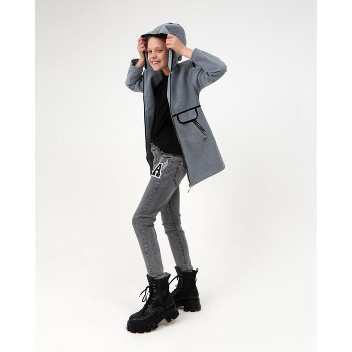 Пальто для девочки, цвет серый, рост 140 см - фото 3