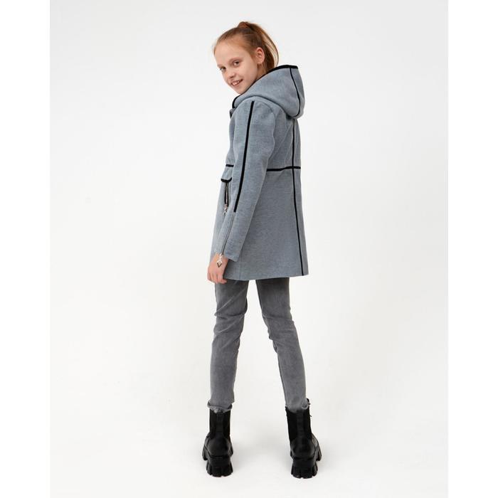Пальто для девочки, цвет серый, рост 140 см - фото 4