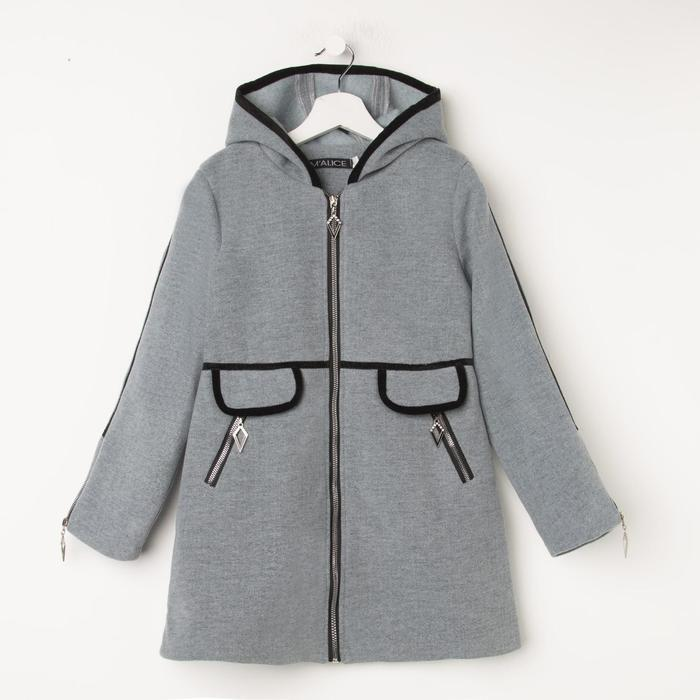 Пальто для девочки, цвет серый, рост 140 см - фото 5