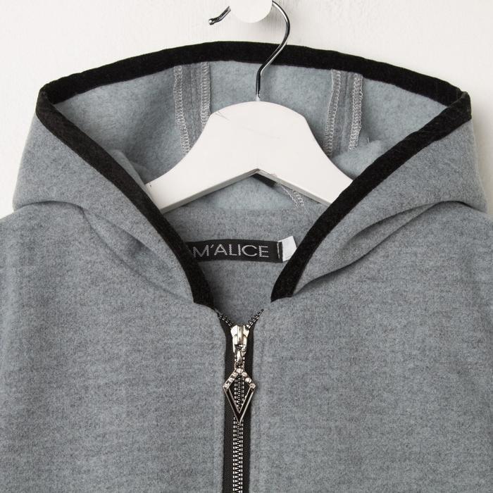 Пальто для девочки, цвет серый, рост 140 см - фото 6