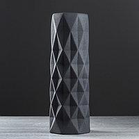 Ваза напольная 'Поли' муар, чёрный, 41 см, керамика