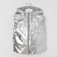 Жилетка для девочки, цвет серебро, рост 110-116 см
