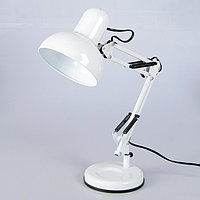 Настольная лампа 1x60W E27 белая 15,5x15,5x58см