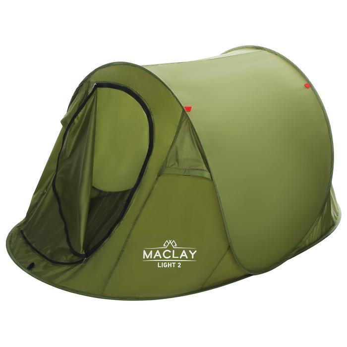 Палатка туристическая LIGHT 2, размер 215 х 120 х 95 см, однослойная - фото 2