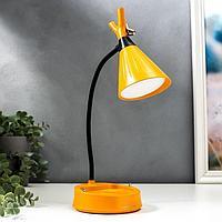 Настольная лампа с диммером 16299/1YL LED 4Вт USB АКБ 3000-6000К желтый 12,3х12,3х37 см