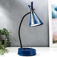 Настольная лампа с диммером 16299/1BL LED 4Вт USB АКБ 3000-6000К синий 12,3х12,3х37 см