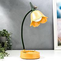 Настольная лампа с диммером 16300/1YL LED 4Вт USB АКБ 3000-6000К желтый 12,3х12,3х37 см