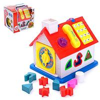 Развивающая игрушка 'Бизиборд Домик', с сортером, световые и звуковые эффекты