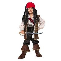 Детский карнавальный костюм 'Капитан Джек Воробей', бархат, размер 40, рост 158 см